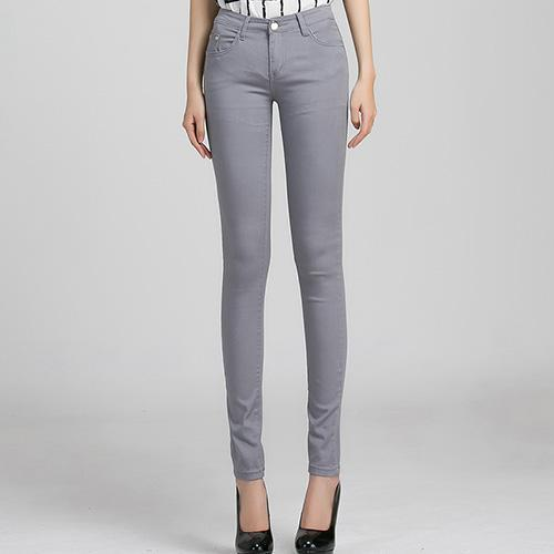 Jeans Female Denim Pants Candy Color Womens Jeans Donna Stretch Bottoms Feminino Skinny Pants For-Bottoms-Tataria Speciallity Store-Gray-25-EpicWorldStore.com
