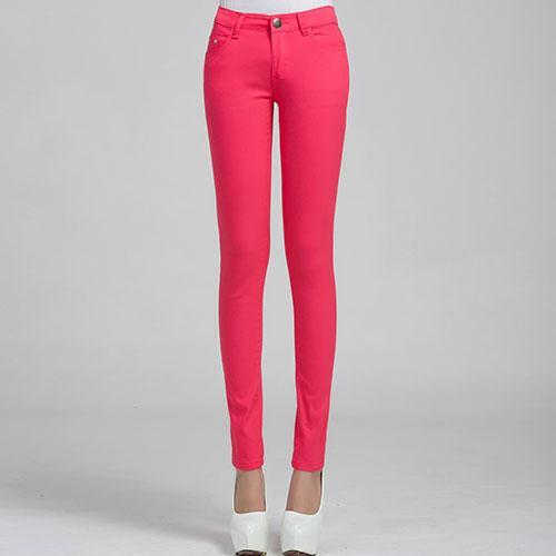 Jeans Female Denim Pants Candy Color Womens Jeans Donna Stretch Bottoms Feminino Skinny Pants For-Bottoms-Tataria Speciallity Store-Peach red-25-EpicWorldStore.com