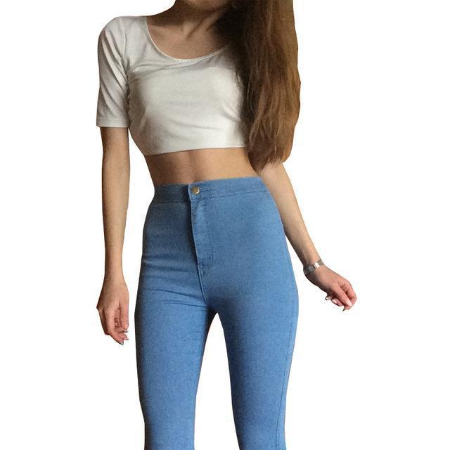 Jeans For Women Stretch Black Jeans Woman Pants Skinny Women Jeans With High Waist Denim Blue-Bottoms-JYCGOODLUCKY Store-light blue-XS-EpicWorldStore.com