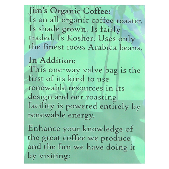 Jims Organic Coffee Coffee Beans - Organic - French Roast - Decaf - 11 Oz - Case Of 6-Eco-Friendly Home & Grocery-Jim's Organic Coffee-EpicWorldStore.com