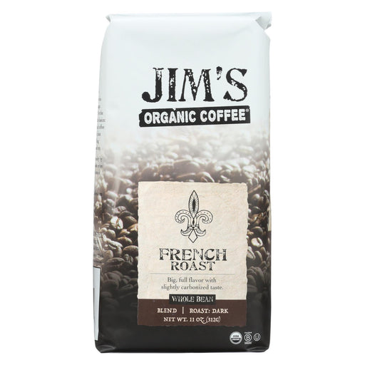 Jim'S Organic Coffee - Whole Bean - French Roast - Case Of 6 - 11 Oz.-Eco-Friendly Home & Grocery-Jim's Organic Coffee-EpicWorldStore.com