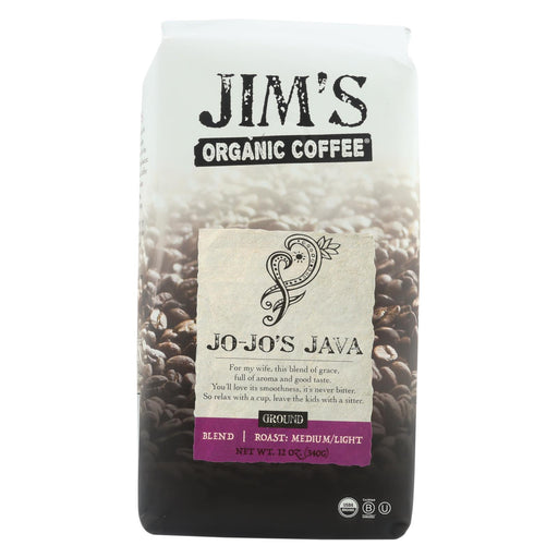 Jim'S Organic Coffee - Whole Bean - Jo-Jo'S Java - Case Of 6 - 12 Oz.-Eco-Friendly Home & Grocery-Jim's Organic Coffee-EpicWorldStore.com