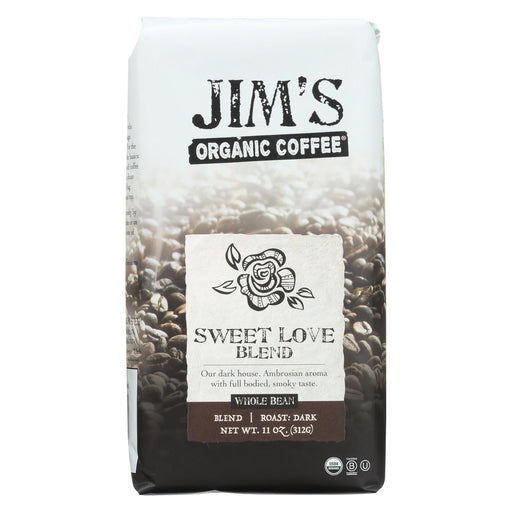 Jim'S Organic Coffee - Whole Bean - Sweet Love Blend - Case Of 6 - 11 Oz.-Eco-Friendly Home & Grocery-Jim's Organic Coffee-EpicWorldStore.com