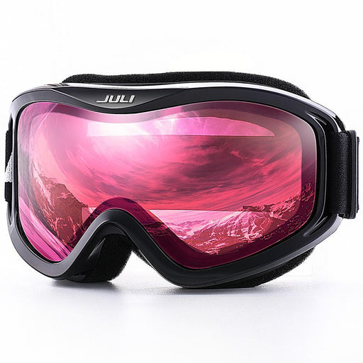 Juli Ski Goggles,Winter Snow Sports Snowboard Ski Mask With Anti-Fog Uv Protection Double Lens For-Shooting-MAX JULI Official Store-C1 VERMILLION RED-EpicWorldStore.com