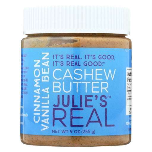 Julie'S Real Cashew Butter - Cinnamon Vanilla Bean - Case Of 6 - 9 Oz.-Eco-Friendly Home & Grocery-Julie's Real-EpicWorldStore.com
