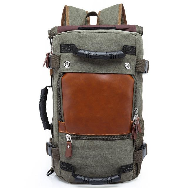 419c1ae129 Kaka Brand Men Backpack Large Capacity Travel Bag Male Luggage Canvas  Backpack Shoulder Computer-Qi