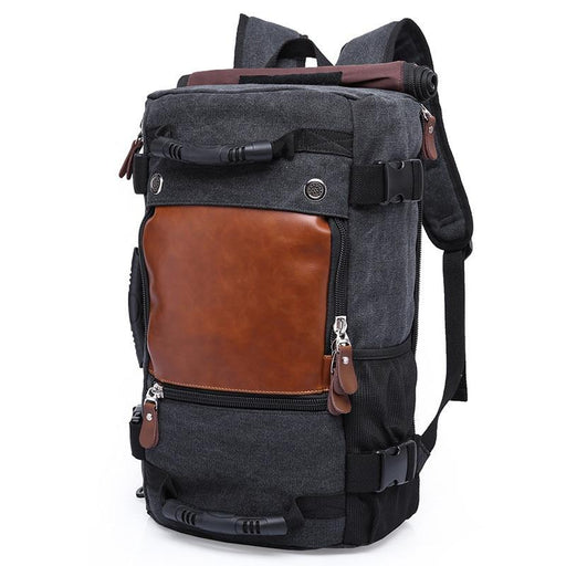 Kaka Brand Men Backpack Large Capacity Travel Bag Male Luggage Canvas Backpack Shoulder Computer-Qi Wang Official Store-Army green-EpicWorldStore.com