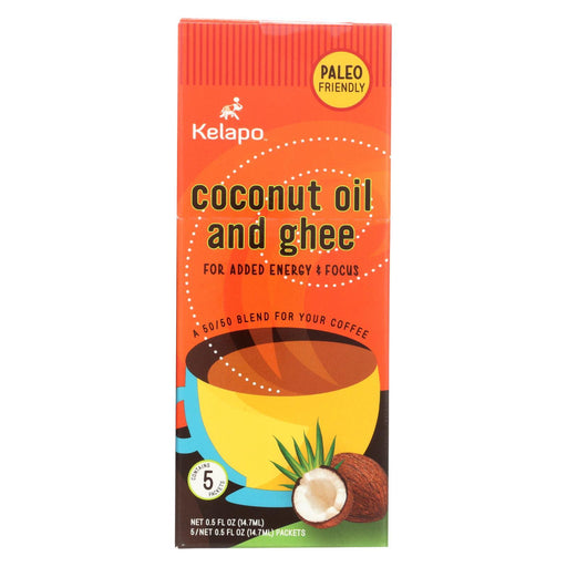 Kelapo Coconut Oil And Ghee 50-50 Blend 0.5 Oz Packets - Case Of 6 - 5-.5 Oz.-Eco-Friendly Home & Grocery-Kelapo-EpicWorldStore.com