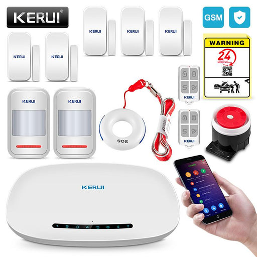 Kerui Gsm Alarm System Security Auto Dial App Wireless Home Burglar Alarm Fire Protection Motion-KERUI Official Store-Standard Alarm-EpicWorldStore.com