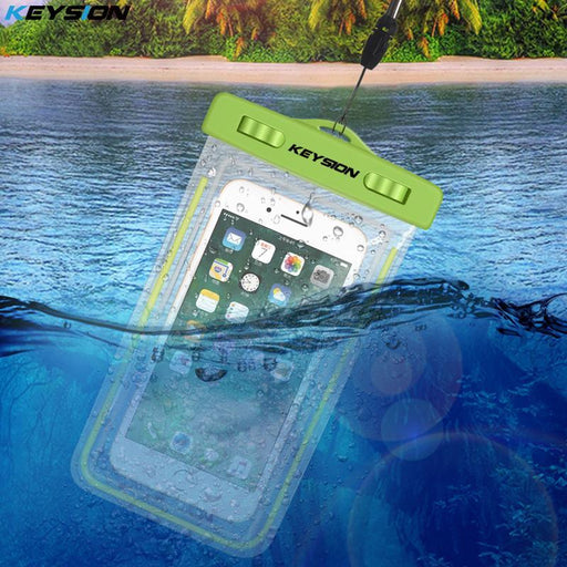 Keysion Waterproof Bag With Luminous Underwater Pouch Phone Case For Iphone X 8 8 Plus 7 7P 6 6S For-Phone Bags & Cases-keysion Official Store-Black-EpicWorldStore.com