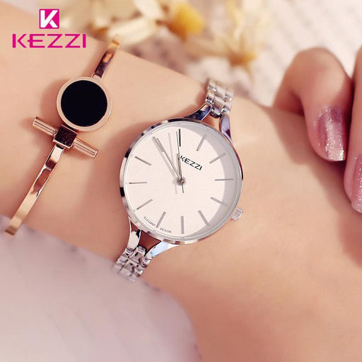 Kezzi Luxury Brand Watches Women Waterproof Stainless Steel Quartz Watch Roman Scale Multi Cutting-Women's Bracelet Watches-No.1 Brand Watch Store-rose gold watch-EpicWorldStore.com