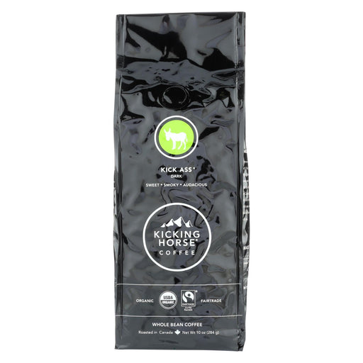 Kicking Horse Coffee - Organic - Whole Bean - Kick Ass - Dark Roast - 10 Oz - Case Of 6-Eco-Friendly Home & Grocery-Kicking Horse-EpicWorldStore.com