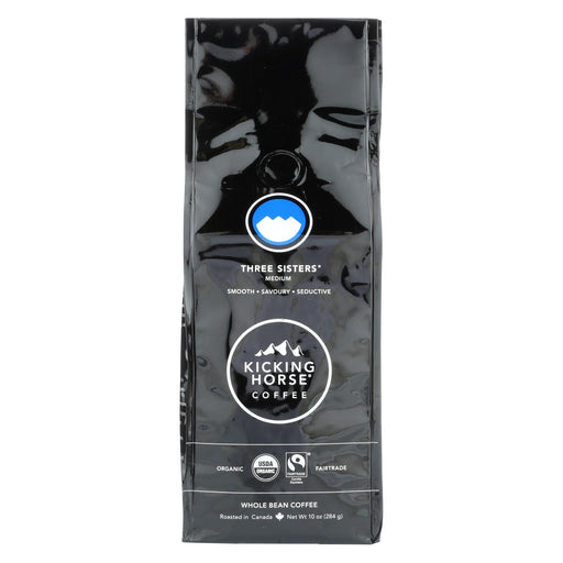 Kicking Horse Coffee - Organic - Whole Bean - Three Sisters - Medium Roast - 10 Oz - Case Of 6-Eco-Friendly Home & Grocery-Kicking Horse-EpicWorldStore.com