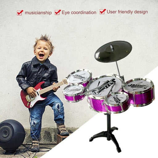 Kids Desktop Musical Drum Instrument Toys 5 Drums Simulation Jazz Drum Kit With Drumsticks-Technological Drone Store-EpicWorldStore.com