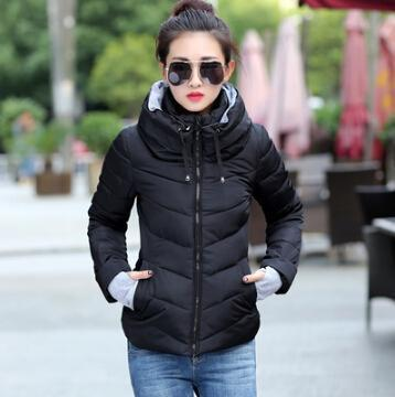 Kids Girls Coat Winter Jacket Outerwear Short Wadded Jacket Female Padded Parka Overcoat-Jackets & Coats-Women's 77 Store-black-M-EpicWorldStore.com