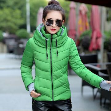 Kids Girls Coat Winter Jacket Outerwear Short Wadded Jacket Female Padded Parka Overcoat-Jackets & Coats-Women's 77 Store-green-M-EpicWorldStore.com