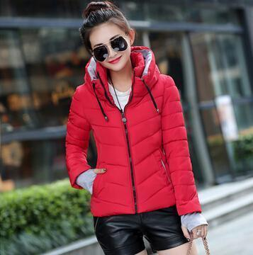 Kids Girls Coat Winter Jacket Outerwear Short Wadded Jacket Female Padded Parka Overcoat-Jackets & Coats-Women's 77 Store-red-M-EpicWorldStore.com