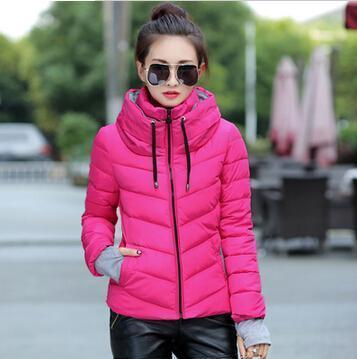 Kids Girls Coat Winter Jacket Outerwear Short Wadded Jacket Female Padded Parka Overcoat-Jackets & Coats-Women's 77 Store-rose red-M-EpicWorldStore.com