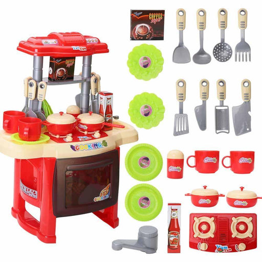 Kids Kitchen Toys Beauty Cooking Toy Play For Children Toys Pretend Play Toys With Light Sound-Pretend Play-BB Toy Store-Rose-EpicWorldStore.com