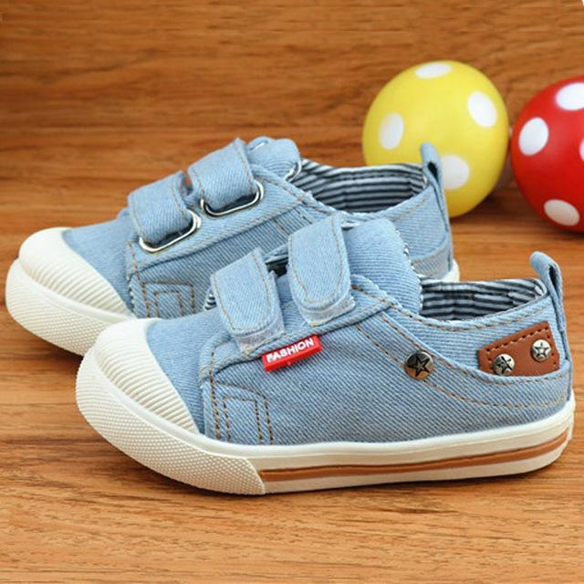 Kids Shoes For Girls Boys Sneakers Jeans Canvas Children Shoes Denim