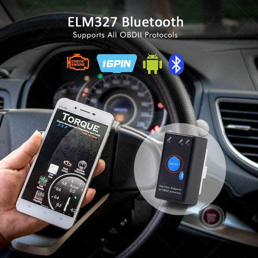 Kingbolen Elm327 V1.5 Pic18F25K80 Chip Bluetooth Power Switch 16Pin 12V Obdii Car Code Reader Elm-Car Repair Tools-KINGBOLENOBD Store-with button-EpicWorldStore.com