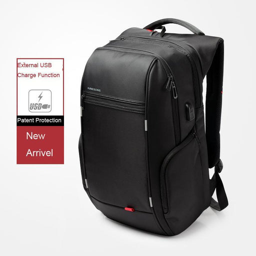 Kingsons Men Usb Charge Computer Bag Anti-Theft Notebook Backpack 13 15 17 Inch Waterproof Laptop-High-end atmosphere MEN bag Store-MODEL A black-13 Inches-EpicWorldStore.com