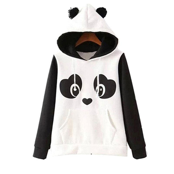 Klv New High Quality Womens Winter Warm Panda Fleece Pullover Jumper Hoodedsweater-Hoodies & Sweatshirts-Spring Dayday-S-EpicWorldStore.com