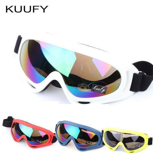 Kuufy Color Professional Snow Windproof X400 Uv Protectionoutdoor Sports Anti-Fog Ski Glasses-Shooting-ItStyle Store-White colorful-EpicWorldStore.com