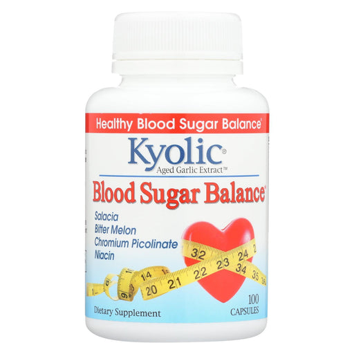 Kyolic - Aged Garlic Extract Blood Sugar Balance - 100 Capsules-Eco-Friendly Home & Grocery-Kyolic-EpicWorldStore.com