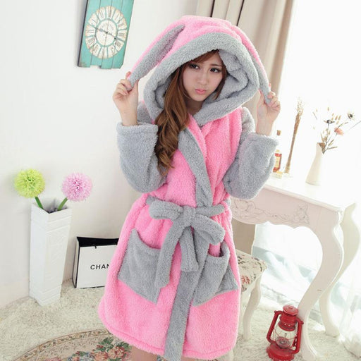 Lady Pajamas Bath Robe Sleepwear Women Coral Velvet Bathrobes Women-Robes-longqibao Fashion Women Store-1-S-EpicWorldStore.com