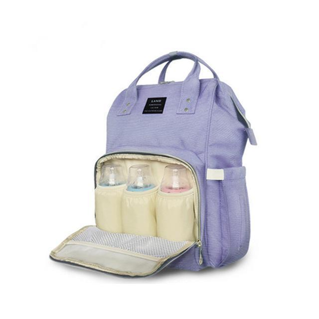 Land Mommy Diaper Bag Large Capacity Baby Nappy Bags Desiger Nursing Bag Travel Backpack-Baby Care-Yiwu Ousu Maternal Store-Bluepurple-EpicWorldStore.com