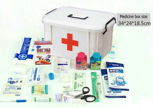 Large Family Medicine Kit Contains Medical And Rehabilitation Supplies Hospital Emergency Disaster-Emergency Kits-Shop2656059 Store-White-EpicWorldStore.com