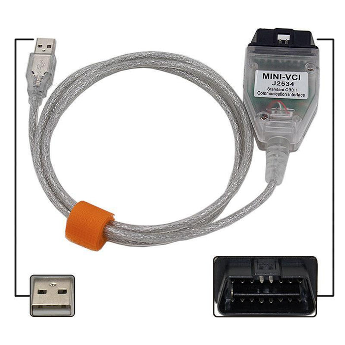 Latest V12.00.127 Mini Vci Interface For Toyota Tis Techstream Mini-Vci Ft232Rl Chip J2534 Obd2-Car Repair Tools-Maizi-EpicWorldStore.com