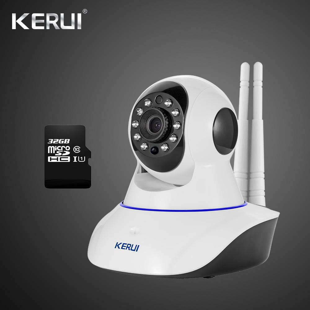 Latest Version Kerui Iwifi Ip Iso Android App Remote Control Hd Ip Camera  Wifi Vandal-Proof For Home