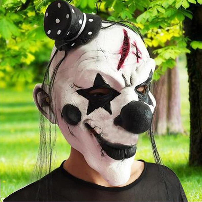 Scary Halloween Drop Blood Skull Head Mask Cosplay Horror Party Theater Mask
