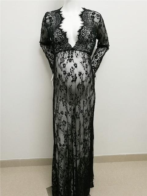 Le Couple Maternity Photography Props Maxi Maternity Gown Lace ...