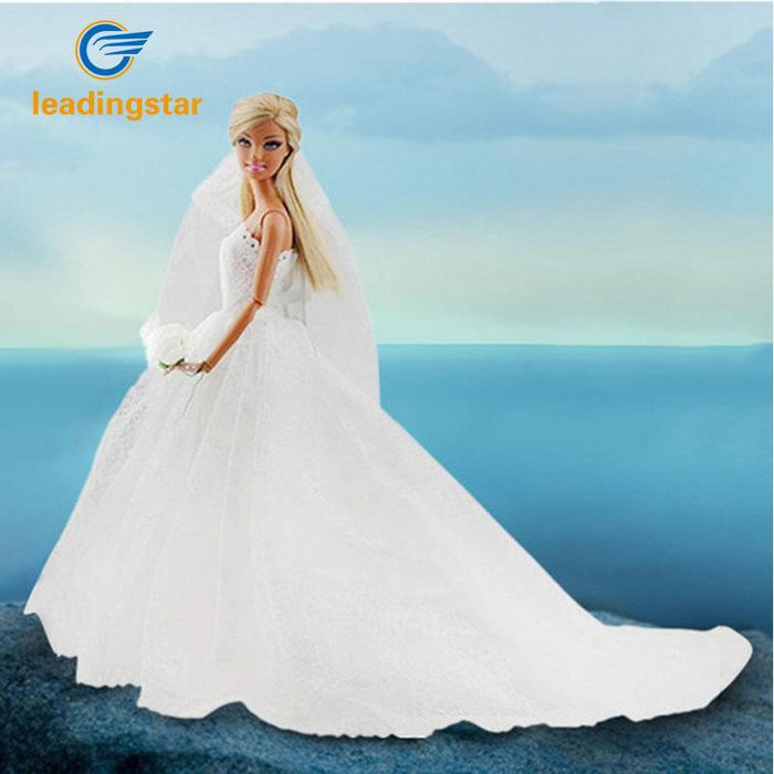 4538f881c4403 Leadingstar Wedding Dress For Barbie Doll Princess Evening Party Clothes  Wears Long Dress Outfit Set