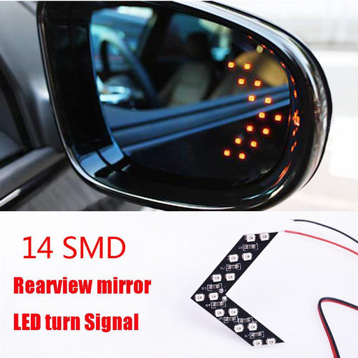 Leadtops 2 Pcs/Lot 14 Smd Led Arrow Panel For Car Rear View Mirror Indicator Turn Signal Light Car-Car Lights-LEADTOPS VIP Store-Blue-EpicWorldStore.com
