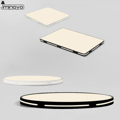 Led Ceiling Light Modern Lamp Panel Living Room Round Lighting Fixture Bedroom Kitchen Hall-Ceiling Lighs & Fans-iminovo Official Store-White Round-23cm 23cm-RC Dimmable-EpicWorldStore.com