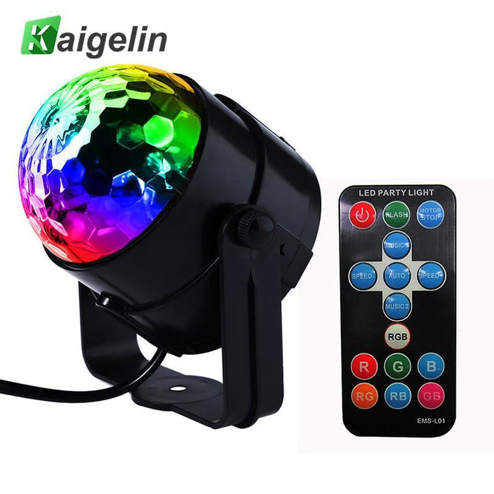Led Disco Ball Dj Disco Ball Stage Light 3W 220V 7 Colors Sound Activated  Strobe Stage Lighting
