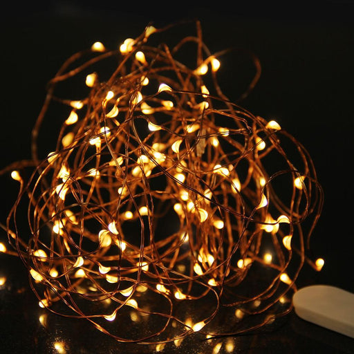 Led Fairy Light 2M 3M Led String Light Waterproof Copper Wire Powered By Cr2032 Battery For-Holiday Lighting-goodland Direct Store-1-2m 20leds-EpicWorldStore.com