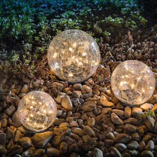 Led Solar Light For Garden Deco Outdoor Solar Courtyard Light Cracked Glass Ball Buried Light-LED Lawn Lamps-A part of life house Store-20 LED-EpicWorldStore.com
