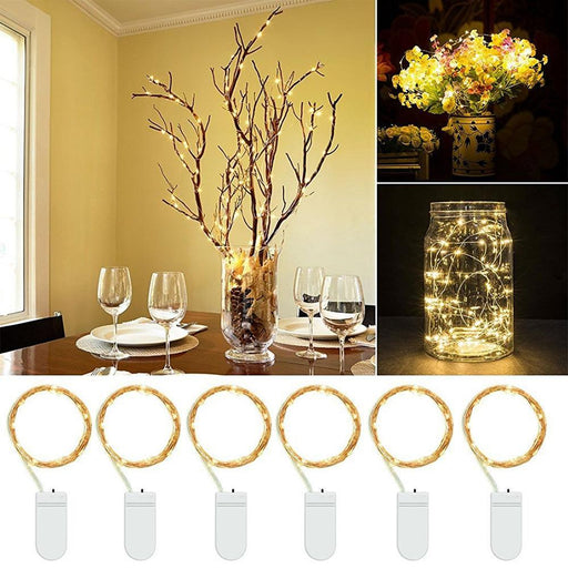 Led Starry String Lights Fairy Micro Leds Copper Wire, Battery Decoration Warm Lamp Holiday-Holiday Lighting-MoonShining store-1 piece a pack-1M 20 LEDs-EpicWorldStore.com