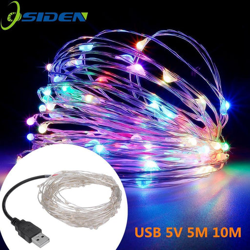 Led String Lights 10M 33Ft 100Led 5V Usb Powered Outdoor Warm White/Rgb Copper Wire Christmas-Holiday Lighting-string lamp Store-blue-USB 5V 5M-EpicWorldStore.com