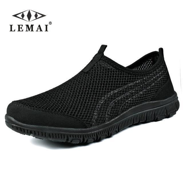 Lemai New Men Casual Shoes, Mens Flats Shoes Men Breathable Lovers Casual Shoes Size-Shoe Accessories-LEMAI Official Store-002 all black-5-EpicWorldStore.com