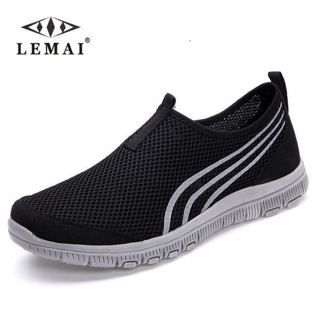 Lemai New Men Casual Shoes, Mens Flats Shoes Men Breathable Lovers Casual Shoes Size-Shoe Accessories-LEMAI Official Store-002 black-5-EpicWorldStore.com