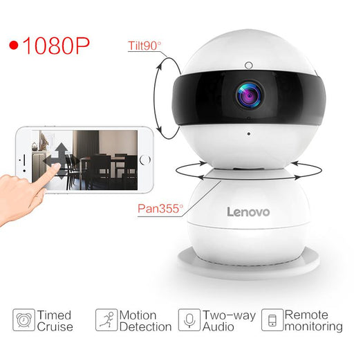 Lenovo Wifi Ip Camera Snowman Sr Wireless Mini Hd 1080P Monitor Ptz Cctv Securi Video Surveillance-Lenovo ipcam Store-Standard-EU Plug-EpicWorldStore.com