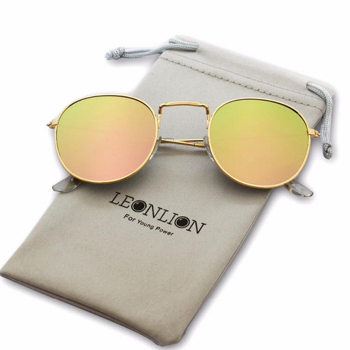 Leonlion Sunglasses Women/Men Brand Designer Glasses Lady Round Luxury Retro Sun Glasses-Sunglasses-LeonLion Official Store-gold violet-EpicWorldStore.com