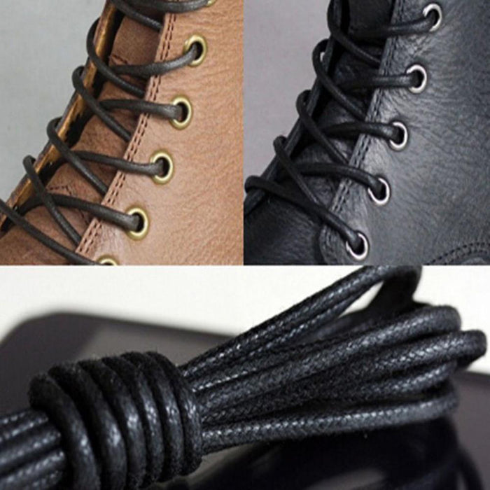 Leyou 80-160Cm Round Waxed Coloured Shoelaces Elastic Leather Shoes Strings Boot Sport Shoe Laces-Shoe Accessories-LYou Footwear Store-beige-80cm-EpicWorldStore.com