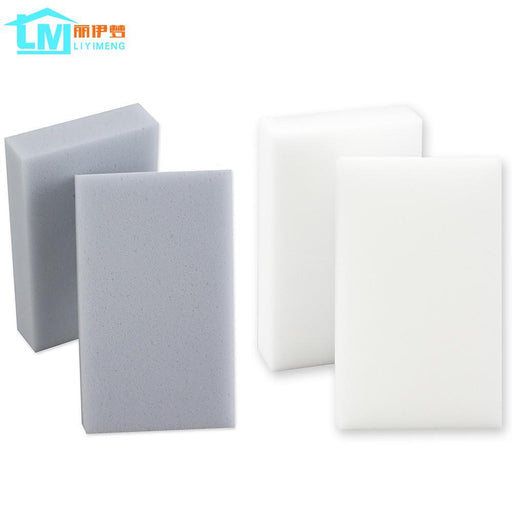 Liyimeng 100Pcs Magic Melamine Sponge Eraser Kitchen Office Computer Bathroom Clean Accessory Dish-Household Cleaning-*GEEK_HOME*-Grey-EpicWorldStore.com